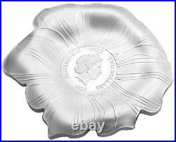 Peony World Enchanting Flower 2022 $2 1 Oz Fine Silver Coin Niue