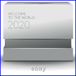 Premium Baby Feet Welcome To The World 2020 $10 1/2 Oz Fine Silver Coin Rcm