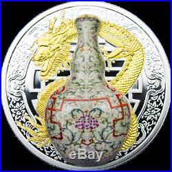Qianlong Wanshou Lianyan Worlds Most Expensive Vase II Silver Coin Niue 2018