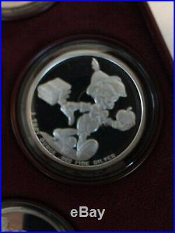 RAREDisney around the world number 1-7 complete set 1oz pure silver