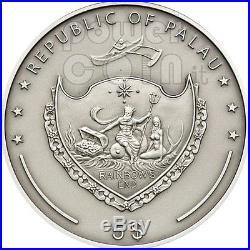 RED SQUIRREL Over The World Swarovski Silver Coin 5$ Palau 2012