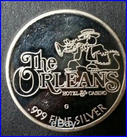 Rare 2 Oz. The Orleans Las Vegas. 999 Silver Global Mint Limited #177 Gator Coin