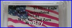 Rare Millennium 2000 Silver Eagle PCGS World Trade Center Ground Zero Recovery