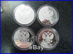 Russia 3x12 rubles 2017 FIFA 2018 Football World Cup 12 coins set Silver PROOF