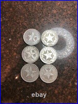 SASA 6 Silver Dollar Size World Silver Coins 90%