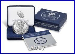 SEALED! 2020 W End of World War II 75th Anniversary American Eagle Silver 20XF