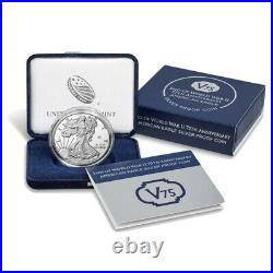 SEALED End Of World War ii 75th Anniversary American Eagle Silver Proof Coin