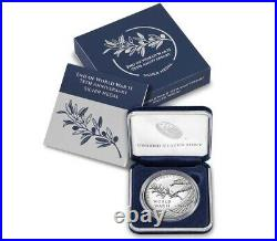 SEALED End Of World War ii 75th Anniversary Silver Medal
