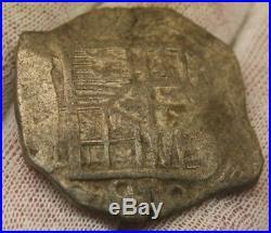 SPANISH 8 REALE MEXICO SILVER 1600's SEA SALVAGE NEW WORLD COIN atocha era