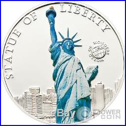 STATUE OF LIBERTY World of Wonders Silver Coin 5$ Palau 2010