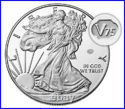 Seal! 20XF End of World War II 75th Anniversary American Eagle Silver Proof Coin