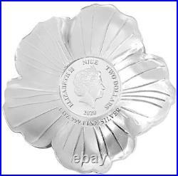 Shrub Althea World Enchanting Flower 2020 $2 1 Oz Fine Silver Coin Niue