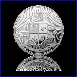 Silber Nashorn / Rhino 2015 Proof 1 oz. 9999 Silver Wonderful World 01 Coin PP