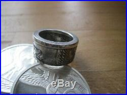 Silver COIN RING THE AZTEC DRAGON WORLD OF DRAGON