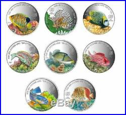 Silver Coins Proof set SEA WORLD Complete Set Of 8 Fish Red Sea Marine
