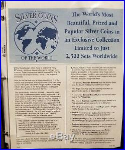 Silver Coins of the World (15) Pc Foreign Silver Coin Set in Album Limited Ed