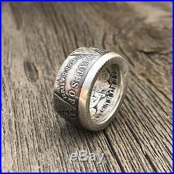 Silver Morgan Dollar Coin Ring Size 9 US Silver. 900. Worldwide free shipping
