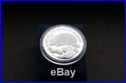 Silver big coin 1996 Animals of the World hedgehog JEZ (lat. Erinaceus) 1 OZ