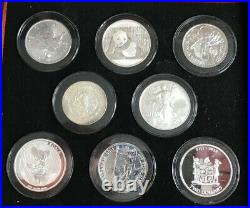 Simply Coins 2015 PURE SILVER 1OZ COINS OF THE WORLD IN LOVELY BOX WITH COAS
