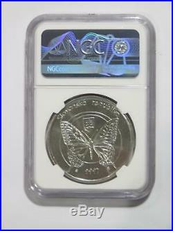 Slovakia 1997 500 Korun National Park Silver Butterfly World Coin Ngc Ms 68