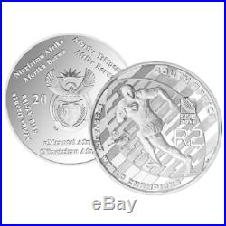 South Africa 1995-2007 Silver Proof Two Rand Coin- 2011 Rugby World Cup
