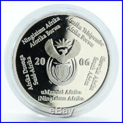 South Africa 2 rand 2010 FIFA World Cup proof silver coin 2006