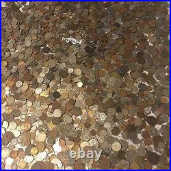 Ten 10 Lb Pounds Foreign & Token Mixed Coins Old Unsearched World Lot Silver