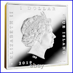The Milkmaid Treasures of World Painting 1 oz Proof Silver Coin 1$ Niue 2019