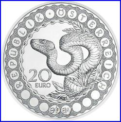 The Serpent Creator The Eye Of The World Proof Silver Coin 20 Euro Austria 2021