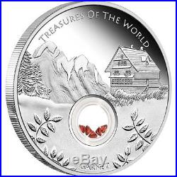 Treasures of the World Garnet 2013 1oz Pure Silver FIRST COIN IN SERIES