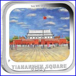 Tuvalu 2013 $1 World Famous Squares 4x1 Oz Silver Proof Coin Set