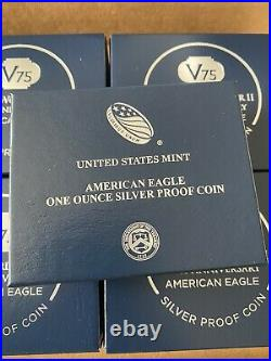 V75 End of World War II 75th Anniversary American Eagle Silver Proof Coin 2020 1