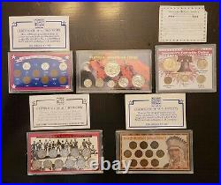 Vintage American, Indian, World War II, Silver, Penny coin collection sets