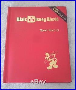 WALT DISNEY WORLD 20 MAGICAL YEARS MASTER PROOF SET SILVER COIN Book