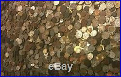 Wholesale World Foreign Coins, 5 Pounds Mostly Older Free Medieval Copper Coins