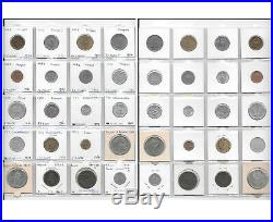 World Collection Lot of 160 Coins in 8 Album Pages Incl. Silver. PP1
