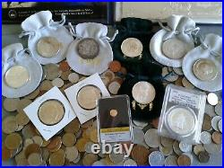 World/Foreign coins, Crown size Silver Coins & Gold Coin! COLLECTIBLES