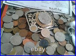 World/Foreign coins with Certificate COINS & $2 Silver Bank note! COLLECTIBLES