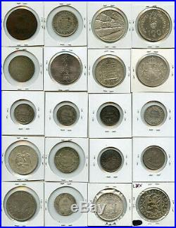 World MIX Coins 1800's-1900's Issue 20 World Coins Collection Rare & Nice Lot