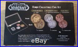 World Of Warcraft Rare Horde Collectible Coin Set 24kt Gold Silver Copper Plated