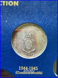 World Philippine Coin Lot Type Set Album Dansco Whitman Asia Continental Silver