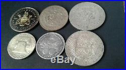 World Silver Coin Lot Of 6 Coins 1887/1893/1953/1954/1957/1971