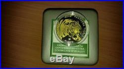 World Silver coins 2009 Kazakhstan 100 Tenge. Asia coins. Best coins
