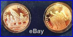 World Trade Center 9/11 # 52 Silver Commemorative Complete 5 Coin Set 2001 NO/RS