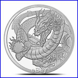 World of Dragons 3 BU Silver Rounds Aztec, Welsh & Chinese in Capsules