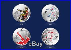 Wow! Stunning Set of Russia 2018 World Cup. 999 Silver Commemorative Coins withBox